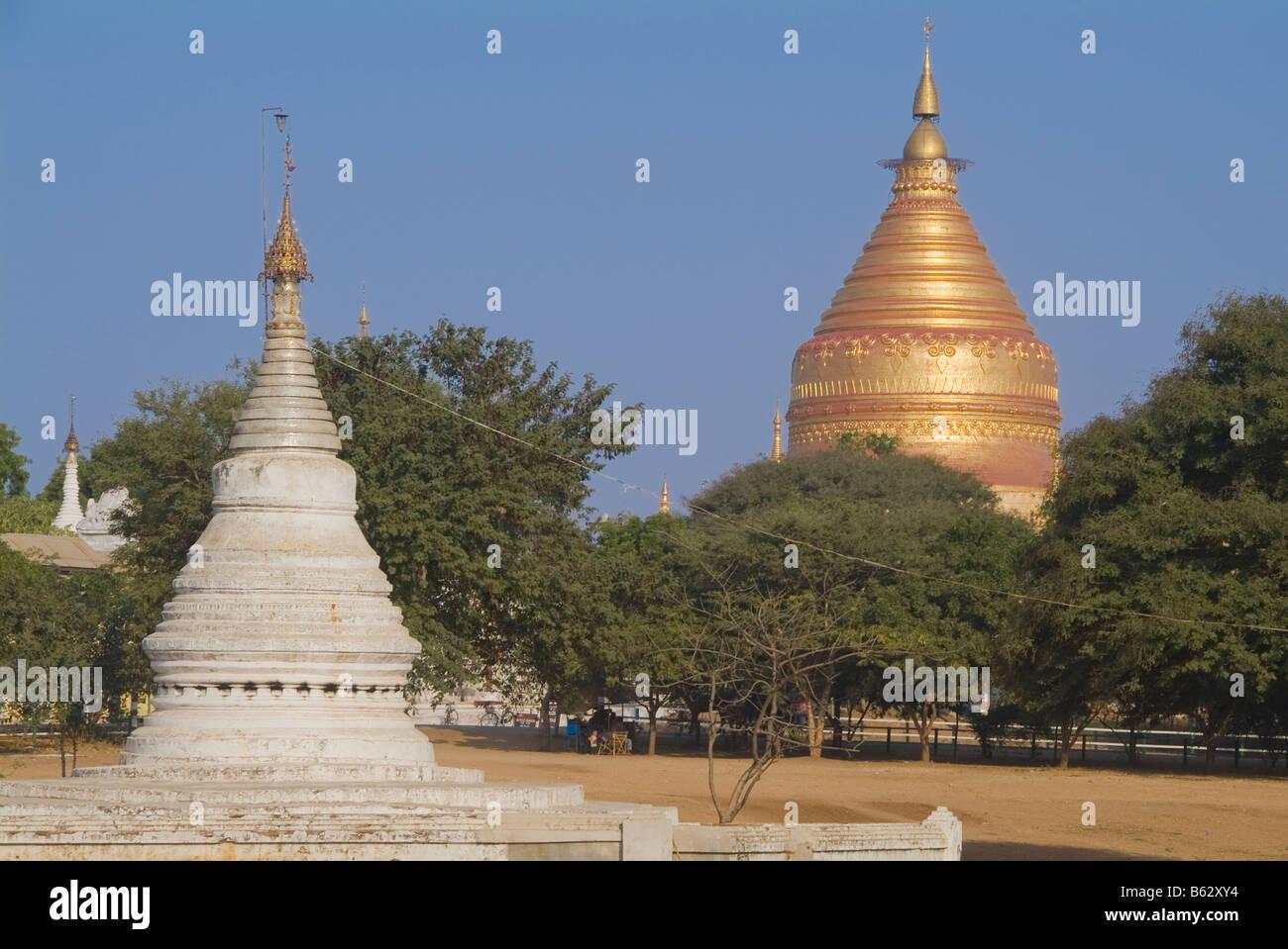 Golden Stupa of the Shwezigon Pagoda Stock Photo