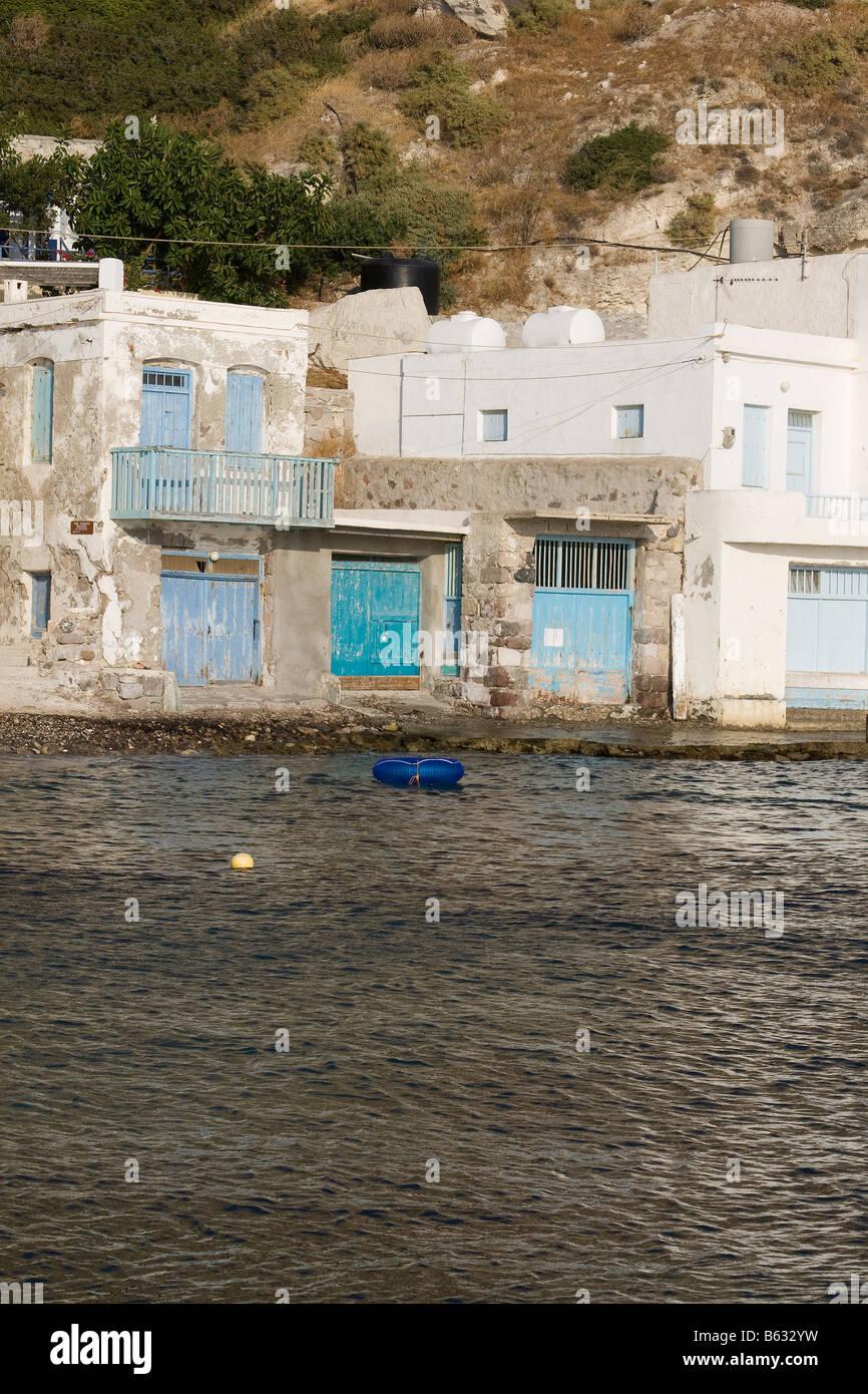 klima milos island cyclades greece - Stock Image