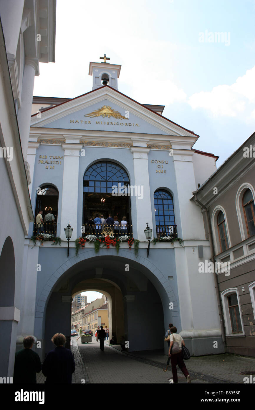 The chapel of the Dawn Gate, Vilnius, Lithuania - Stock Image