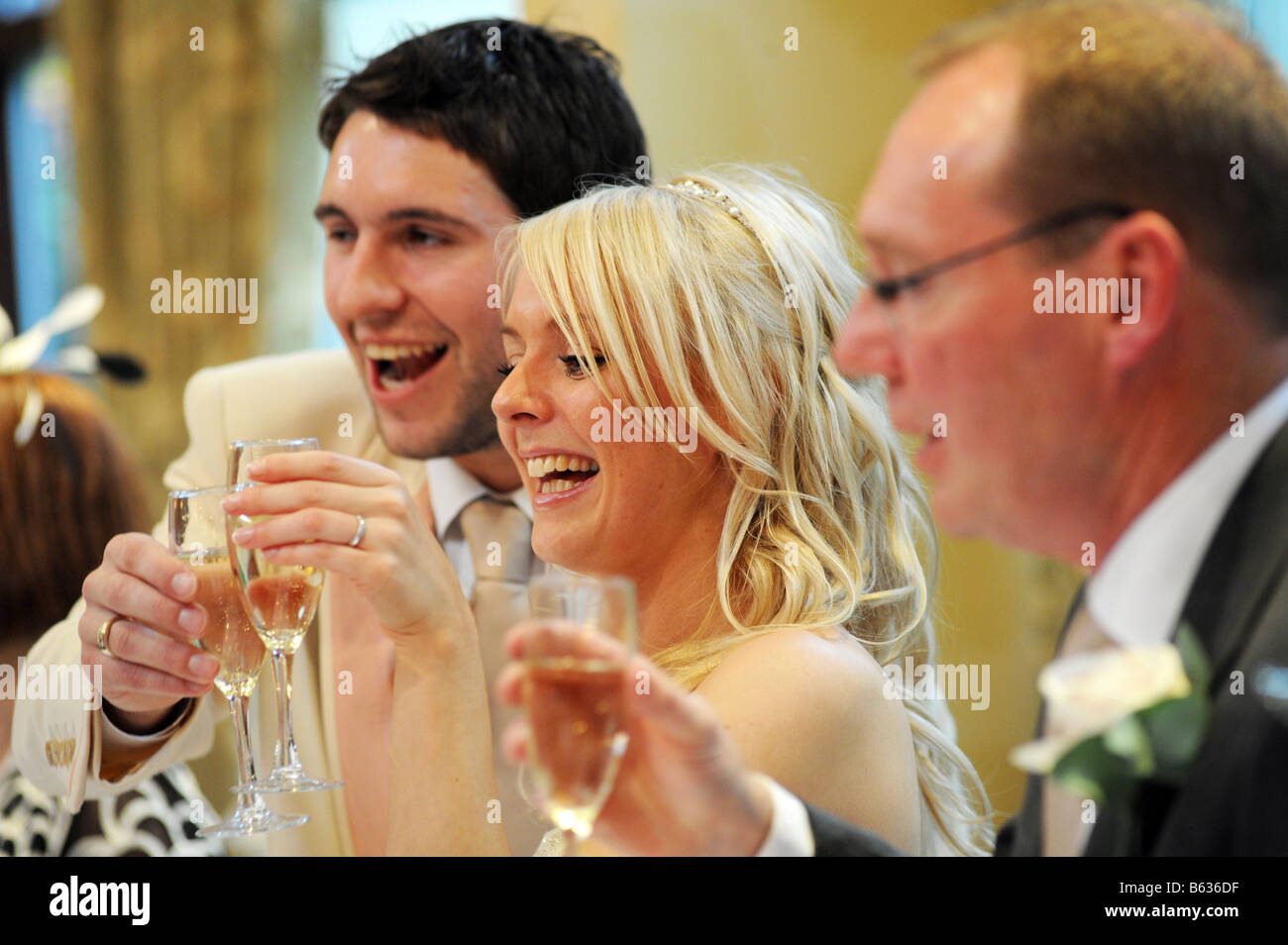 Newly wed couple West Yorkshire Model Released - Stock Image