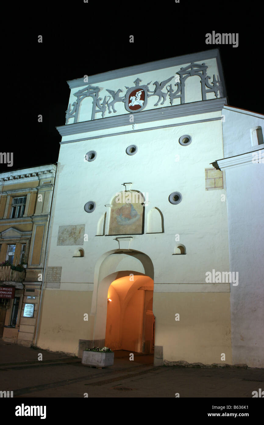 Dawn Gate from the south, Vilnius, Lithuania - Stock Image