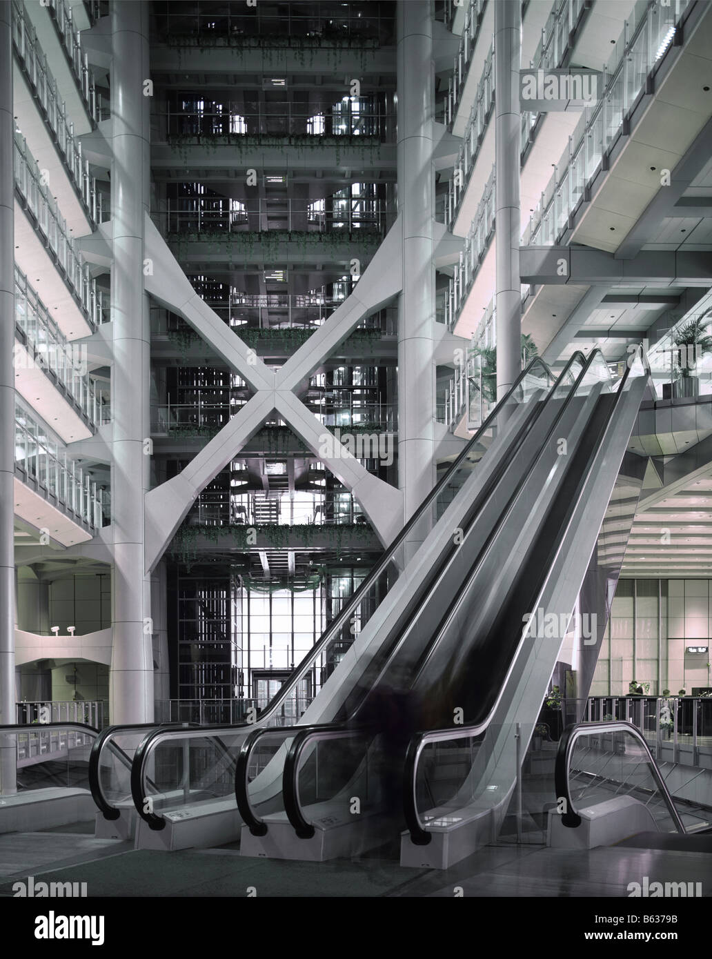 Interior of the Headquarters of the HSBC in Hong Kong Stock