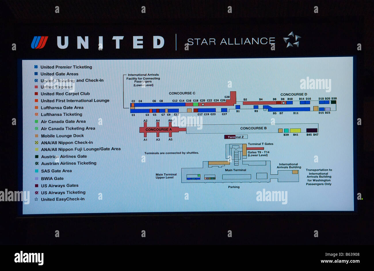 Dulles Airport Terminal Map on