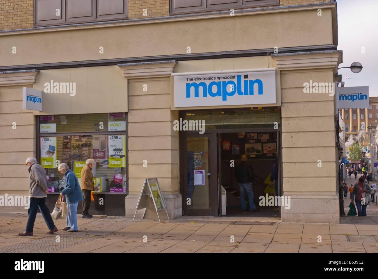 Maplin the electronics specialist shop store in Norwich,Norfolk,Uk - Stock Image