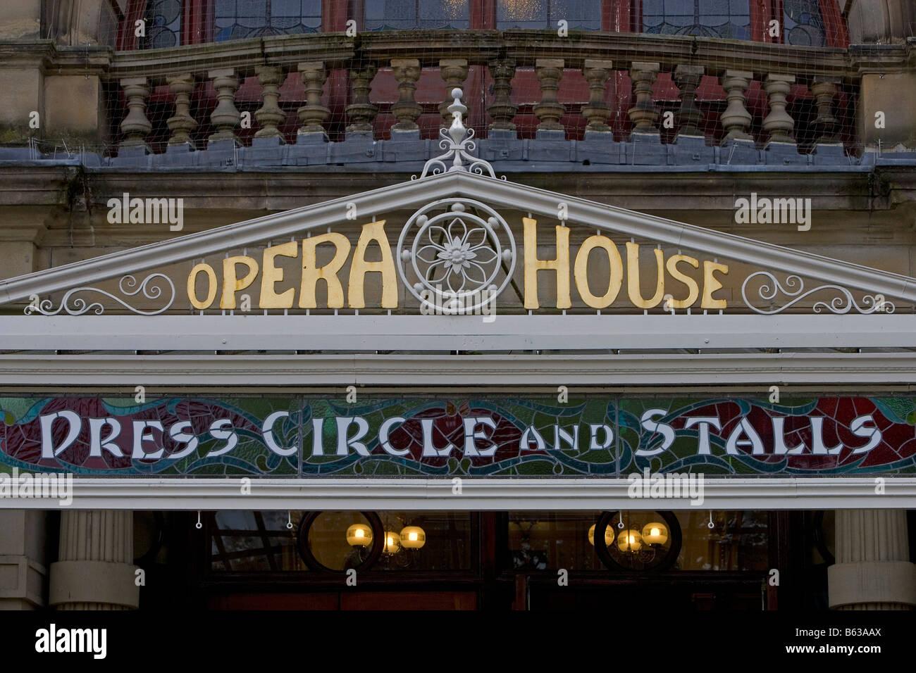 Buxton Opera House 1903 by Frank Matcham Derbyshire the Midlands UK United Kingdom Great Britain - Stock Image