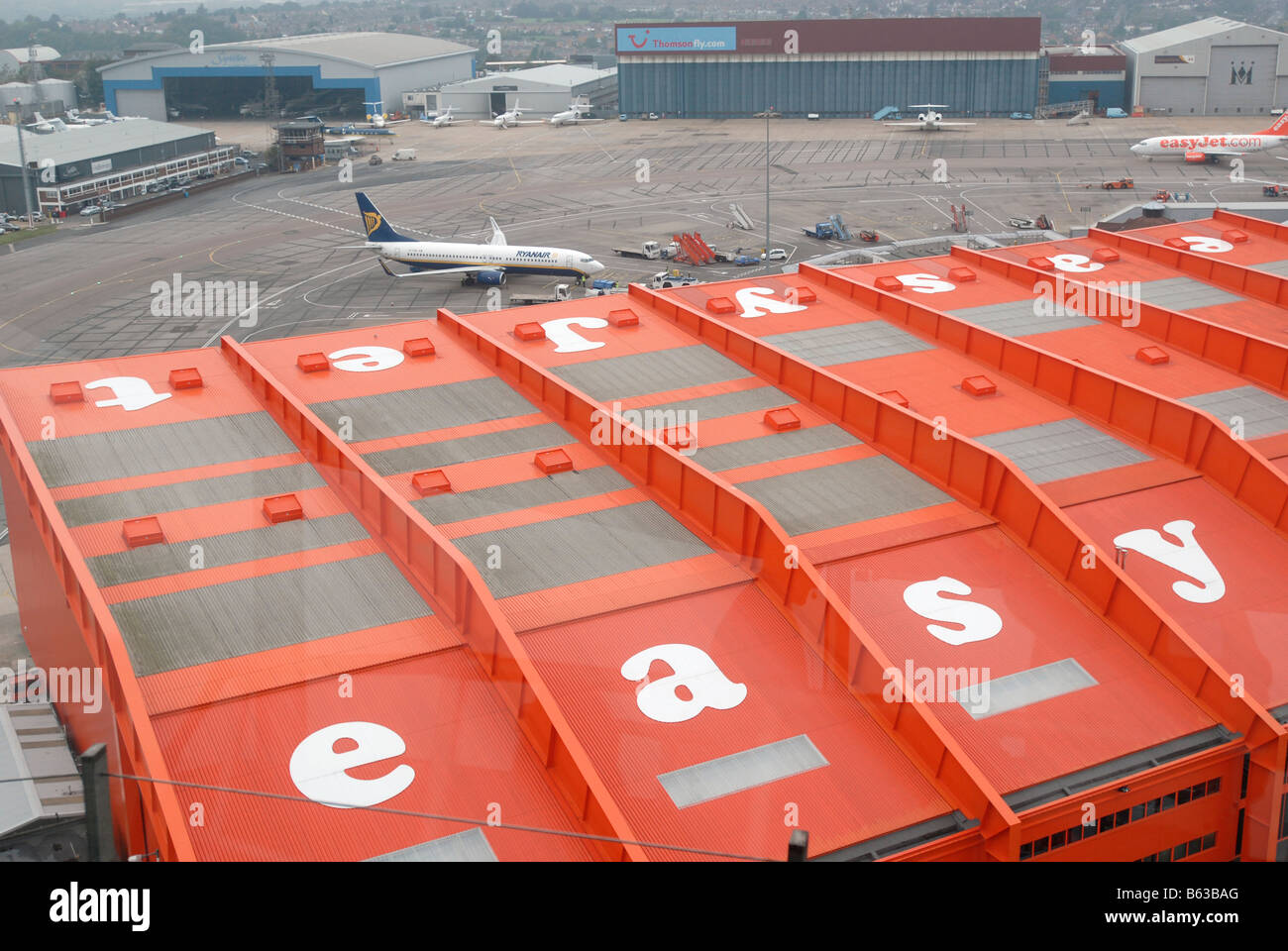easyjet HQ at Luton Airport - Stock Image