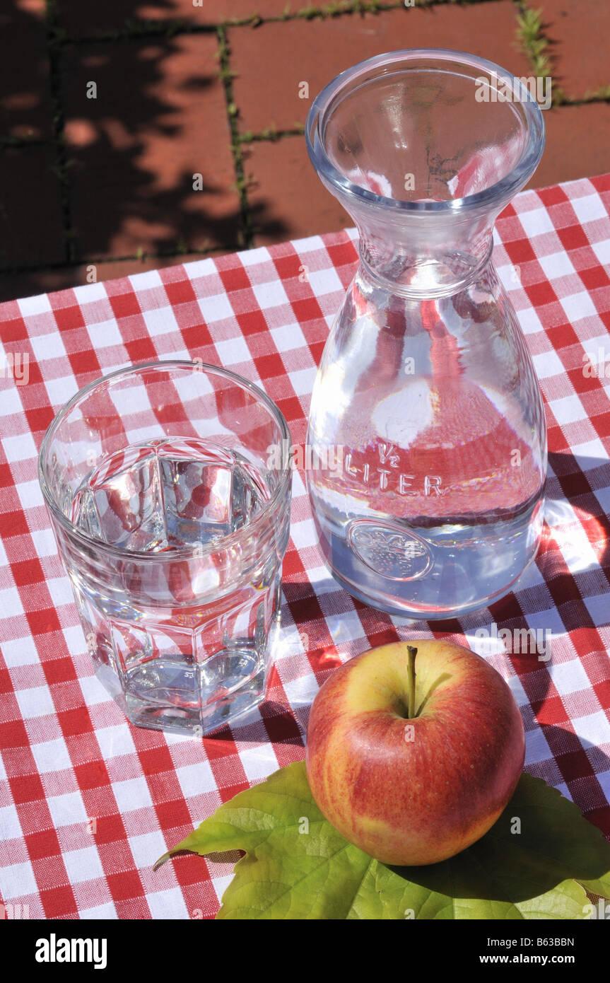 Wasserkrug Bottle of Water Stock Photo