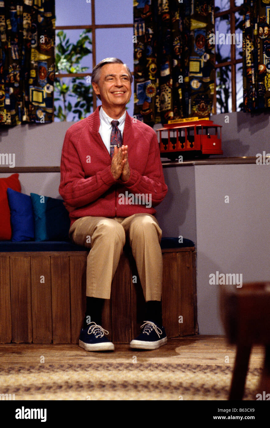 Fred Rogers Of Public Tv S Mister Rogers Neighborhood Pittsburgh Stock Photo Alamy