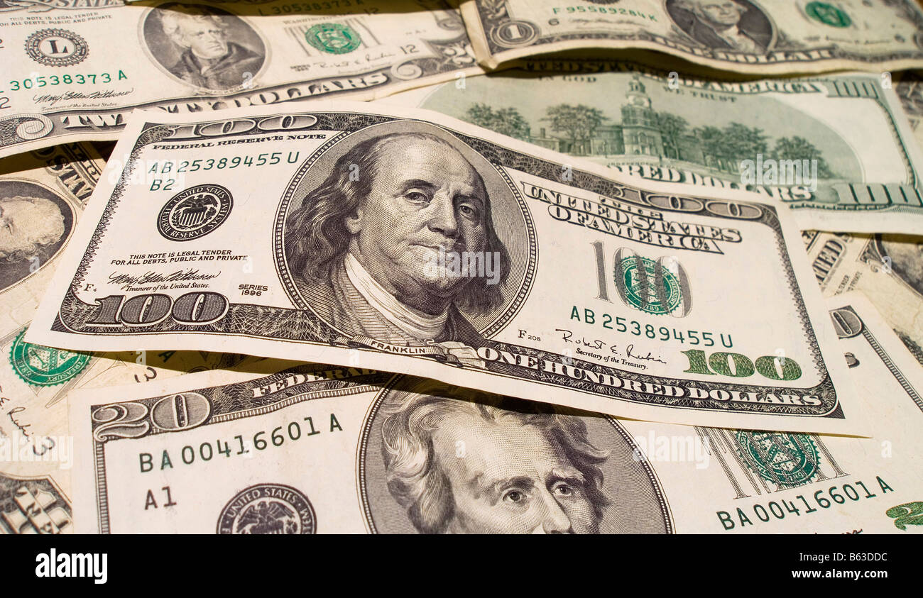us bills - Stock Image