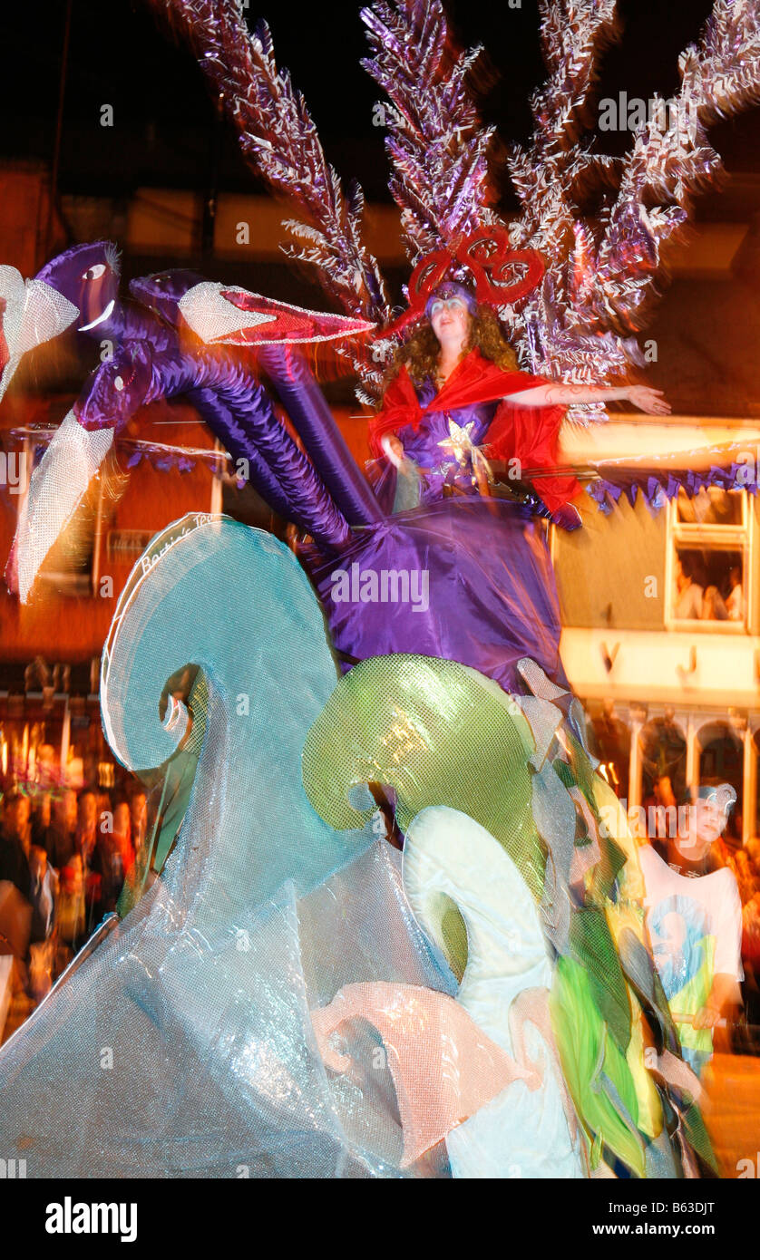 Performers in the Mardi Gras parade, Ballina Street and Arts Festival, Ballina, County Mayo, Ireland. - Stock Image