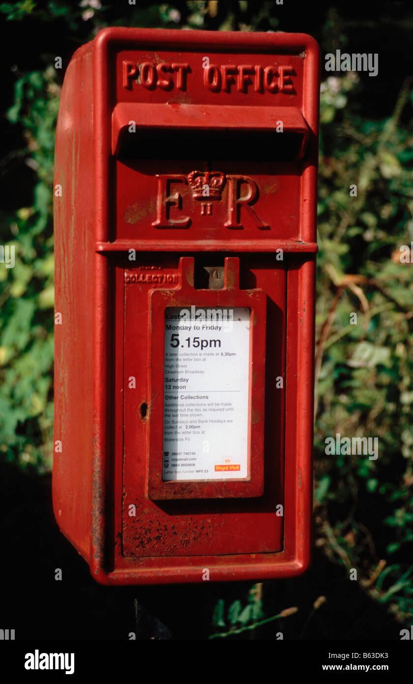 Post Box (Lamp Box variety) Stock Photo