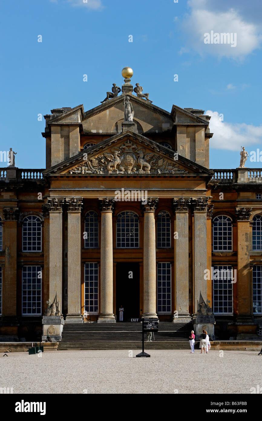 Woodstock Blenheim Palace 1722 buillt for John Churchill 1st Duke of Marlborough by sir John Vanbrugh English Baroque - Stock Image