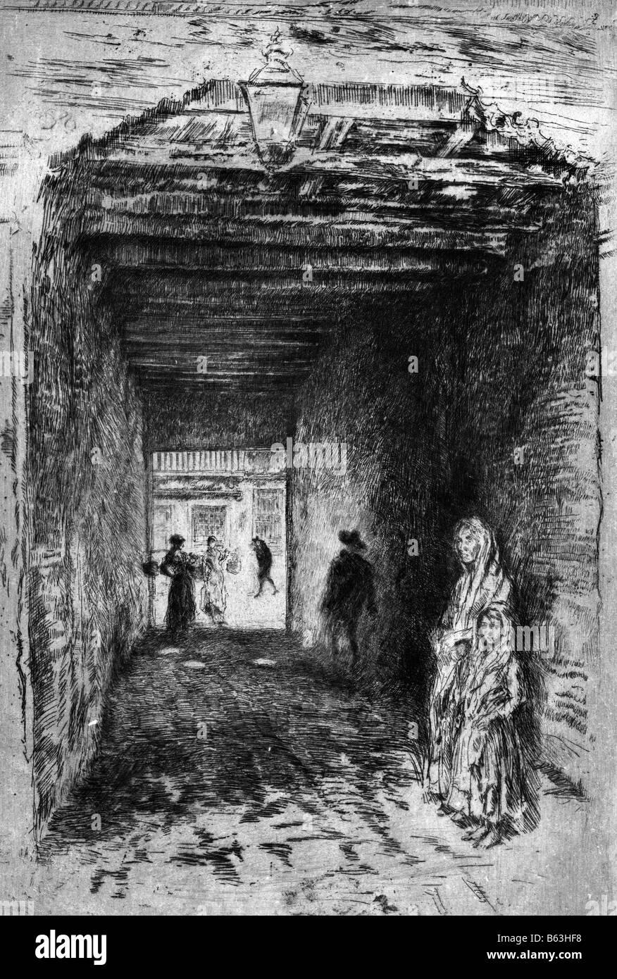 The Beggars - James Whistler - Stock Image