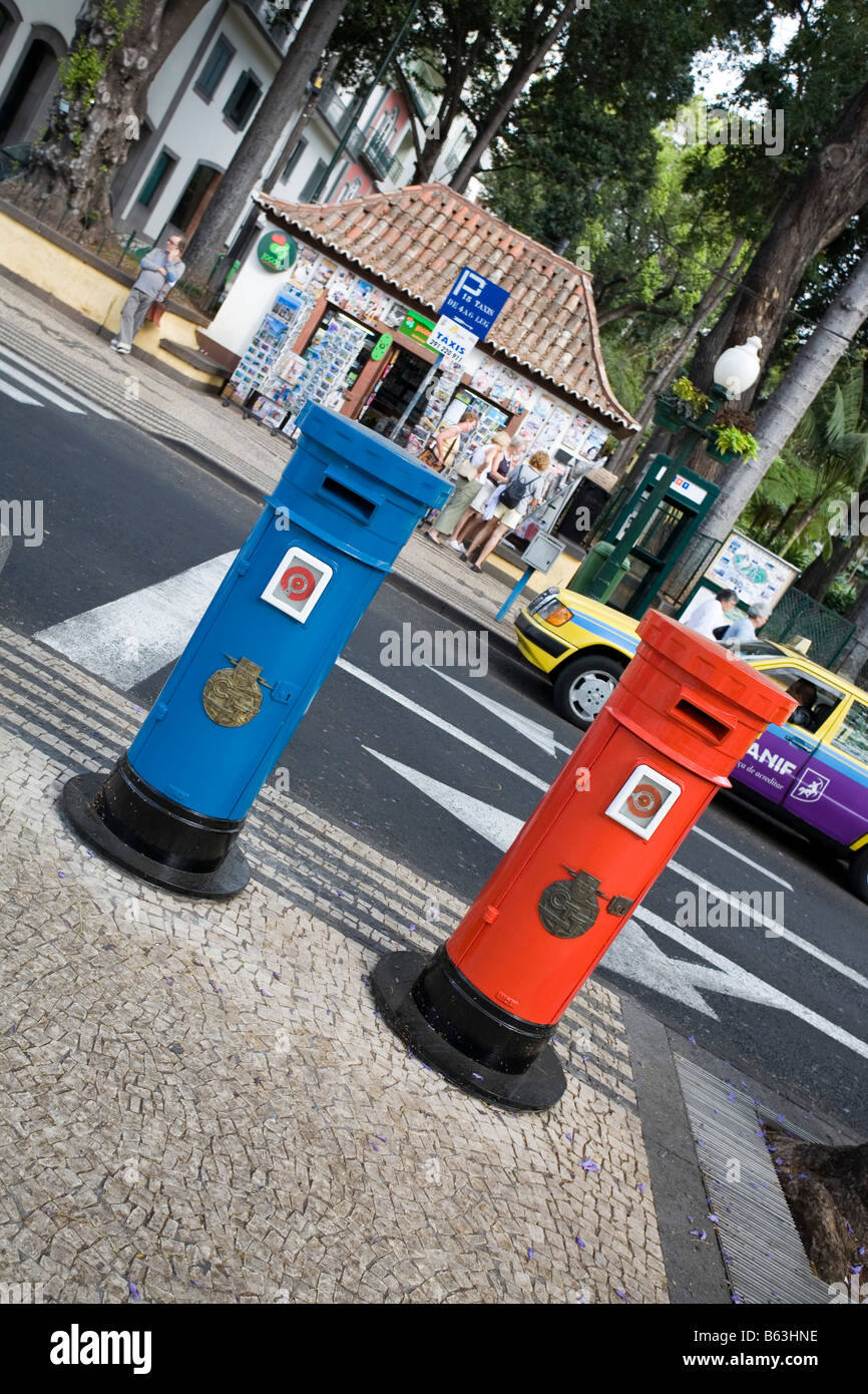 Postboxes in Funchal Madeira - Stock Image