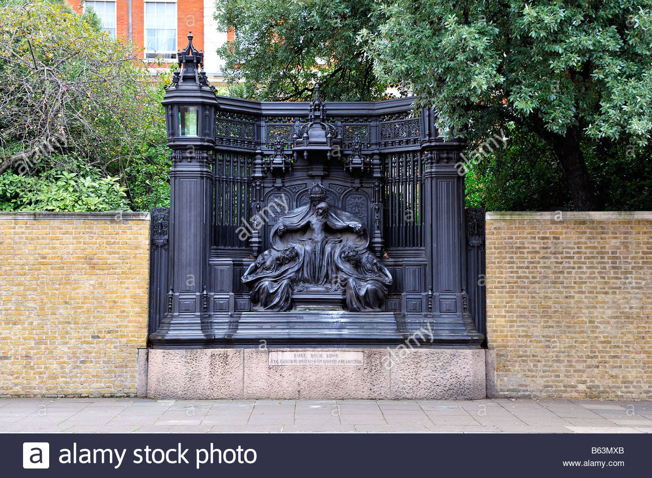 The Queen Alexandra Monument in London created by Sir Alfred Gilbert - Stock Image