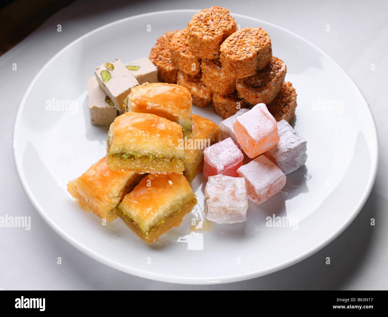 Turkish sweetnesses - Stock Image