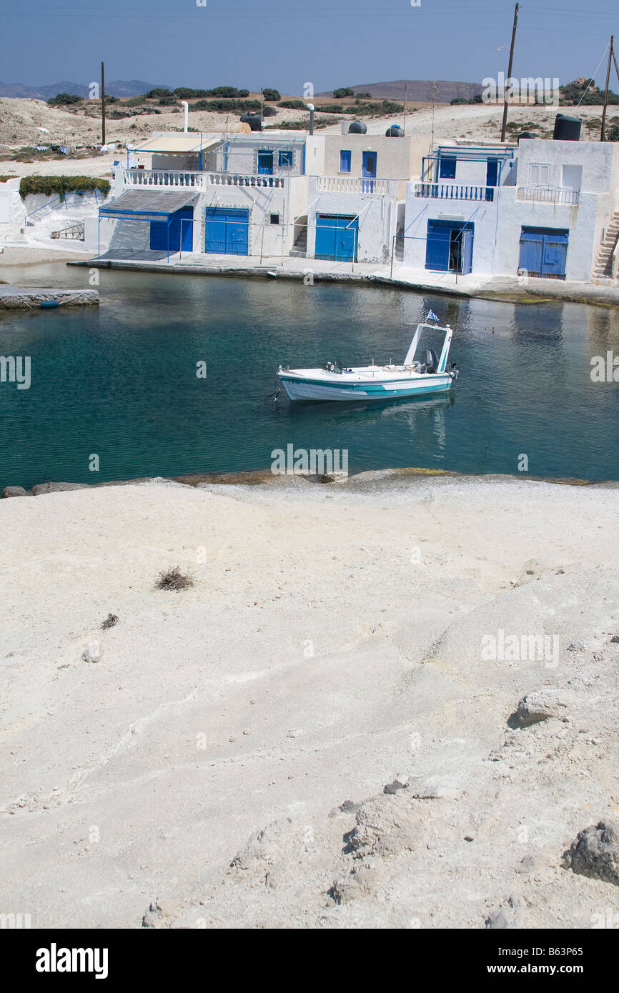 agios konstantinos milos island cyclades greece - Stock Image