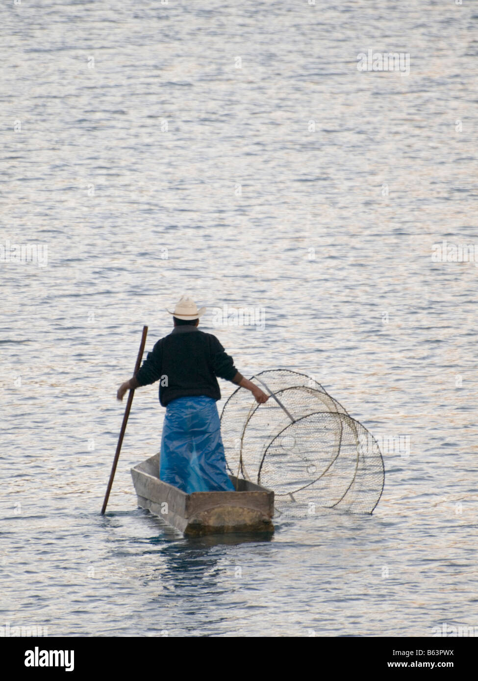 Fishermen on Lake Atitlan - Stock Image
