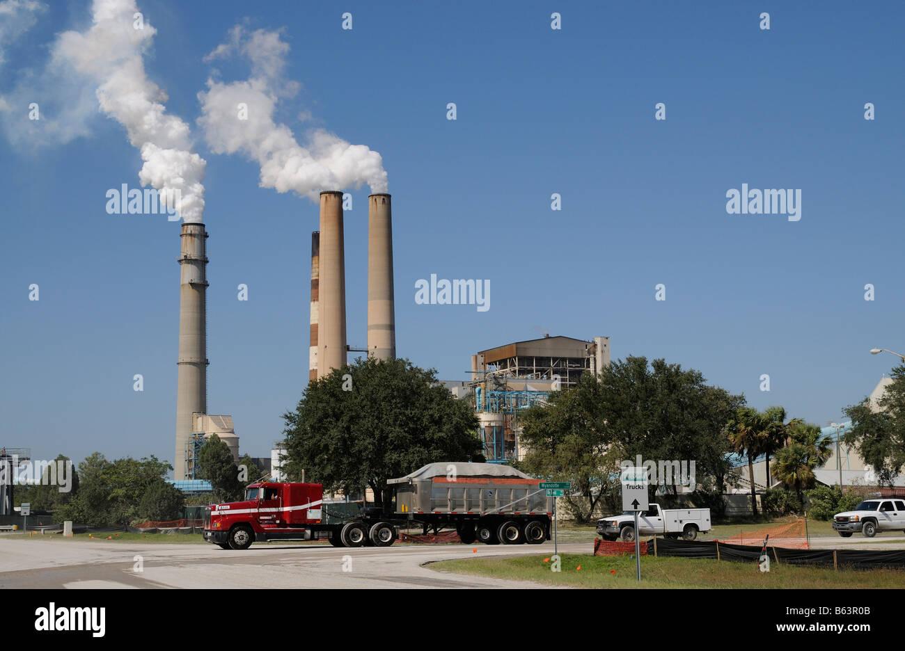 TECO Energy Big Bend power station Florida America USA - Stock Image
