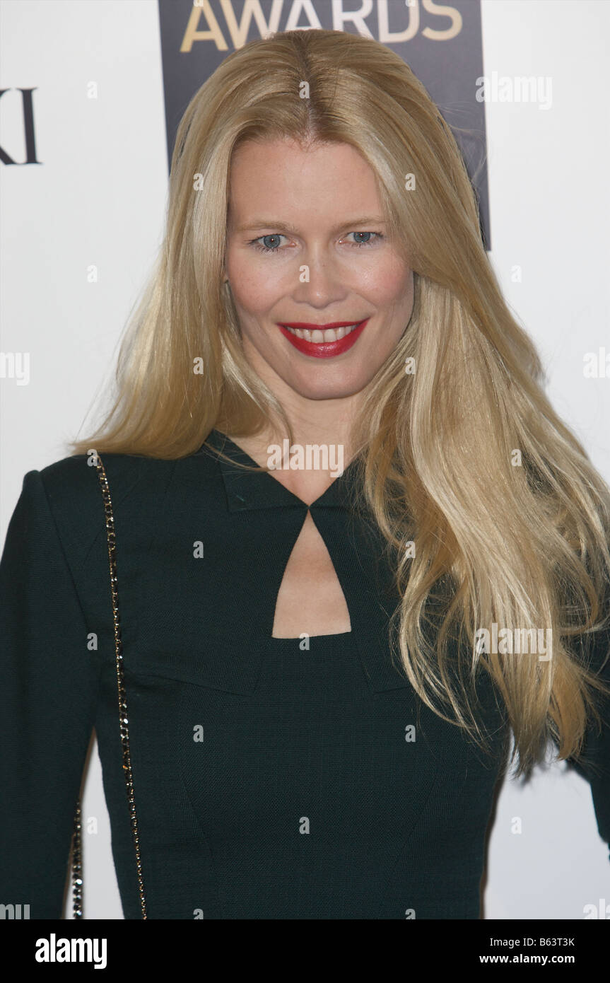Claudia Schiffer attending British fashion awards St Vincent square London 25th of November 2008 - Stock Image