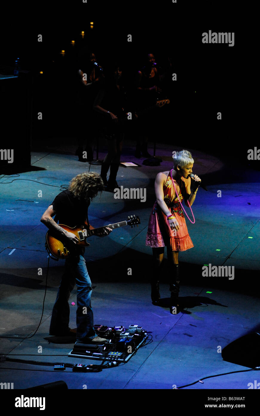 Pink, live concert at Roma Music Auditorium, Italy, 25/07/2007 - Stock Image