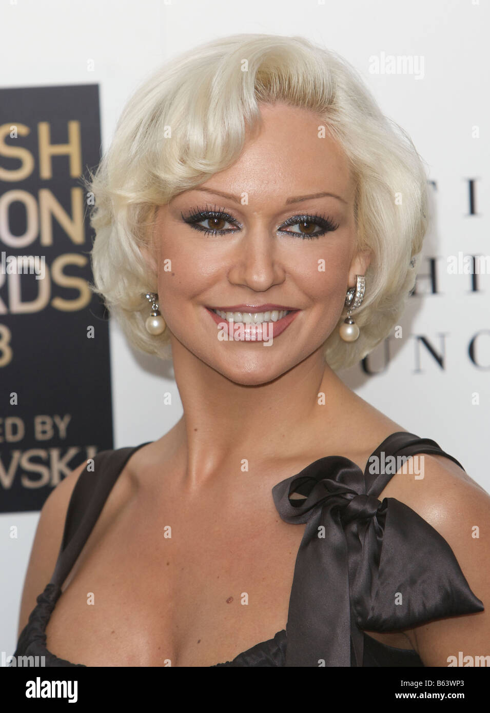 Kristina Rihanoff attending British fashion awards St Vincent square London 25th of November 2008 - Stock Image