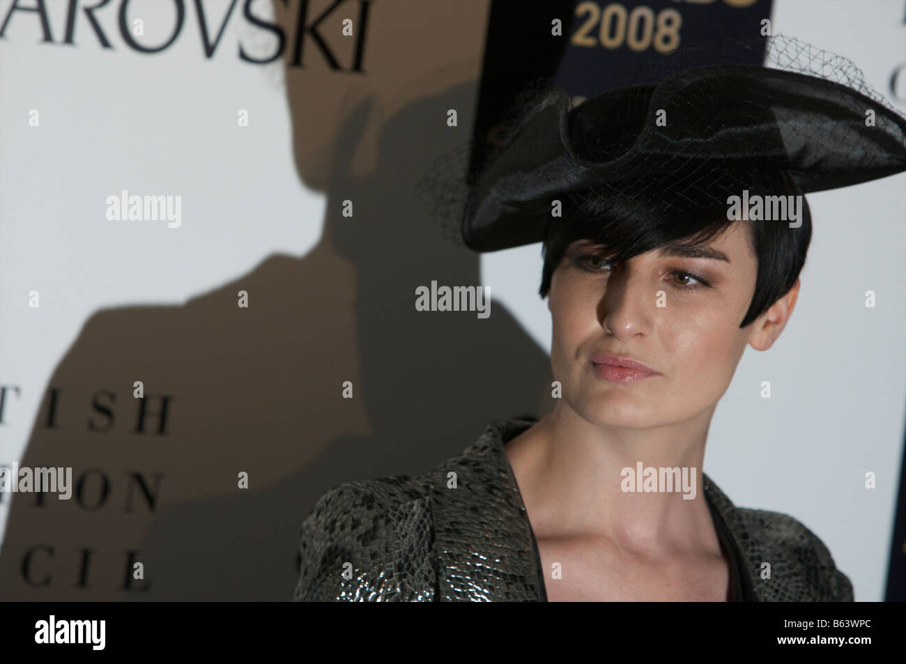 Erin O Connor attending British fashion awards St Vincent square London 25th of November 2008 - Stock Image