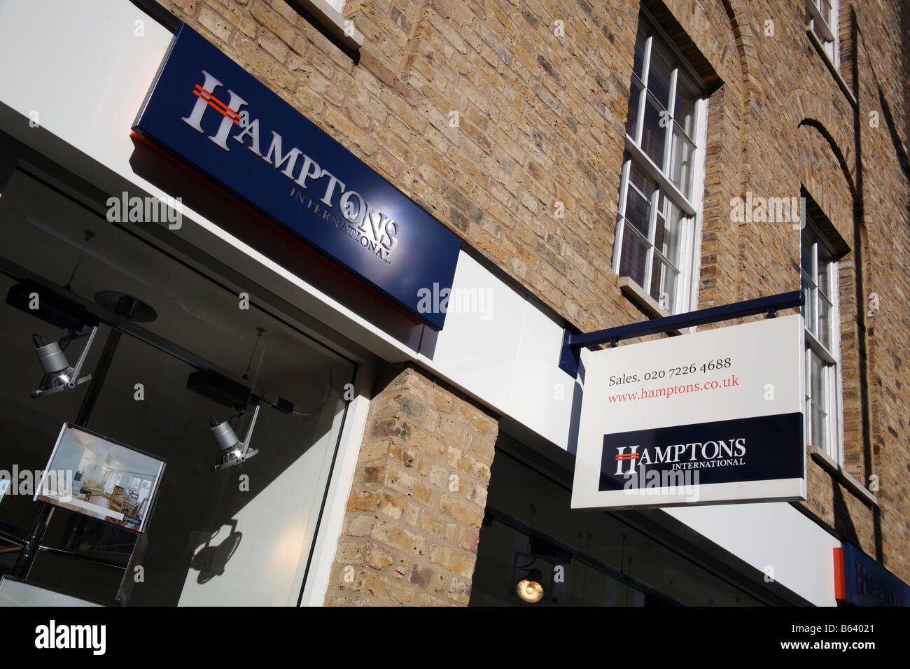 Branch of Hamptons estate agents, London - Stock Image