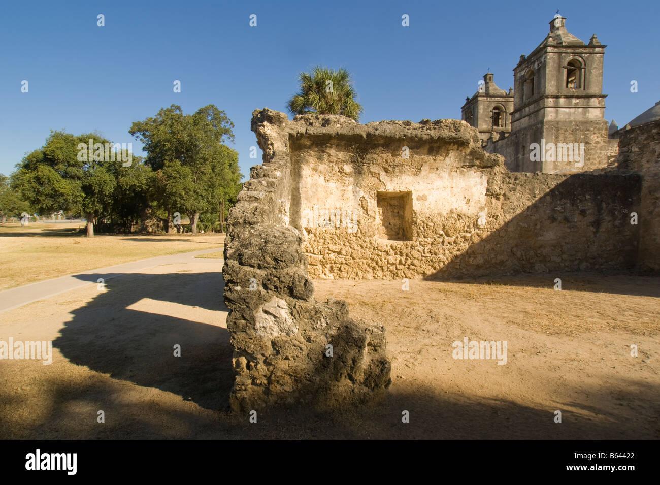 San Antonio Missions, Concepcion (AKA mission of Nuestra Senora de la Purisima Concepcion), State Historic Site - Stock Image
