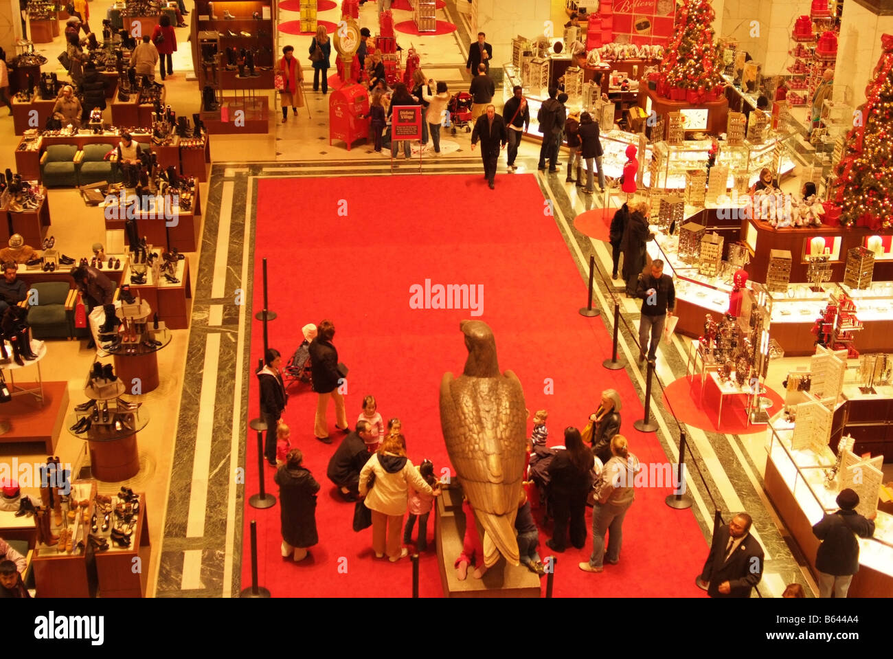 Macys department store holiday shopping in Philadelhia PA - Stock Image