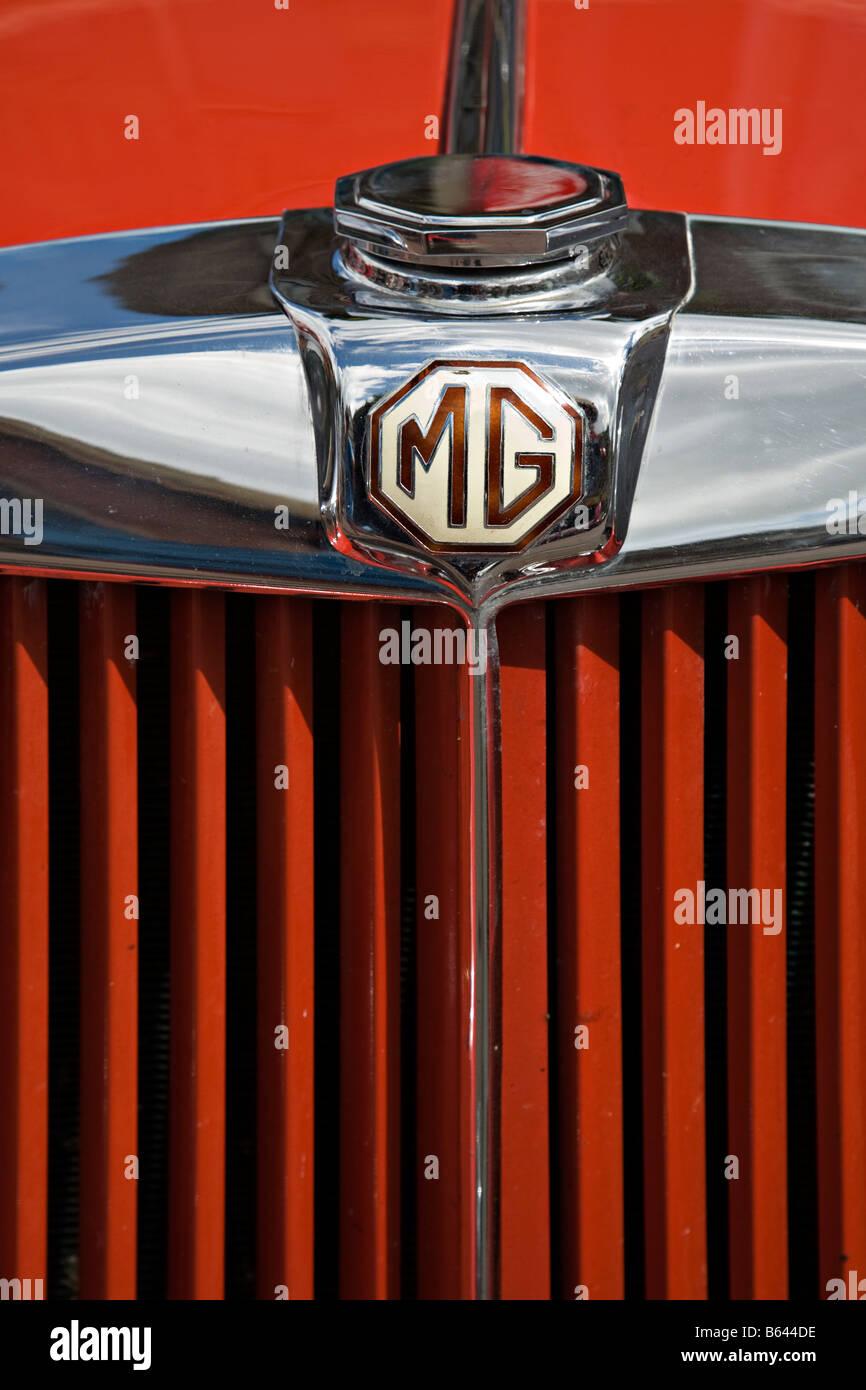 Classic sports car MG badge - Stock Image