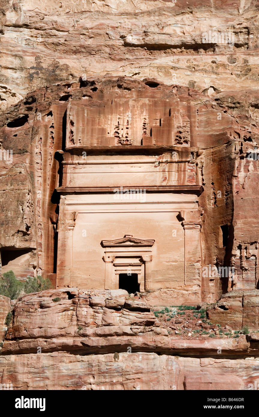 One of the Royal Tombs of Nabataea in Petra Stock Photo