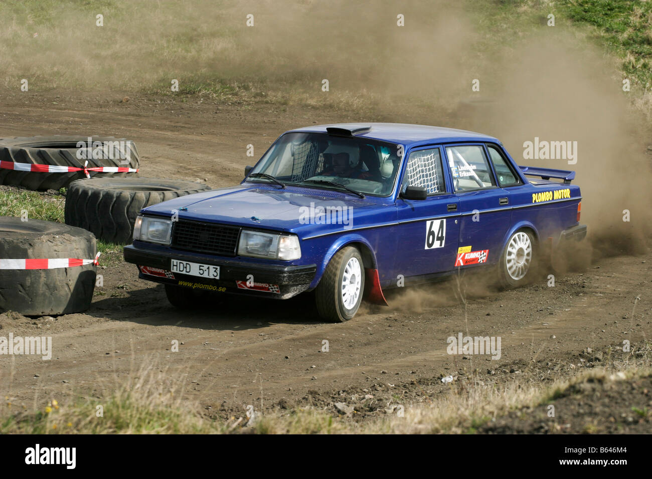 Volvo rally car in a race Stock Photo: 20991380 - Alamy