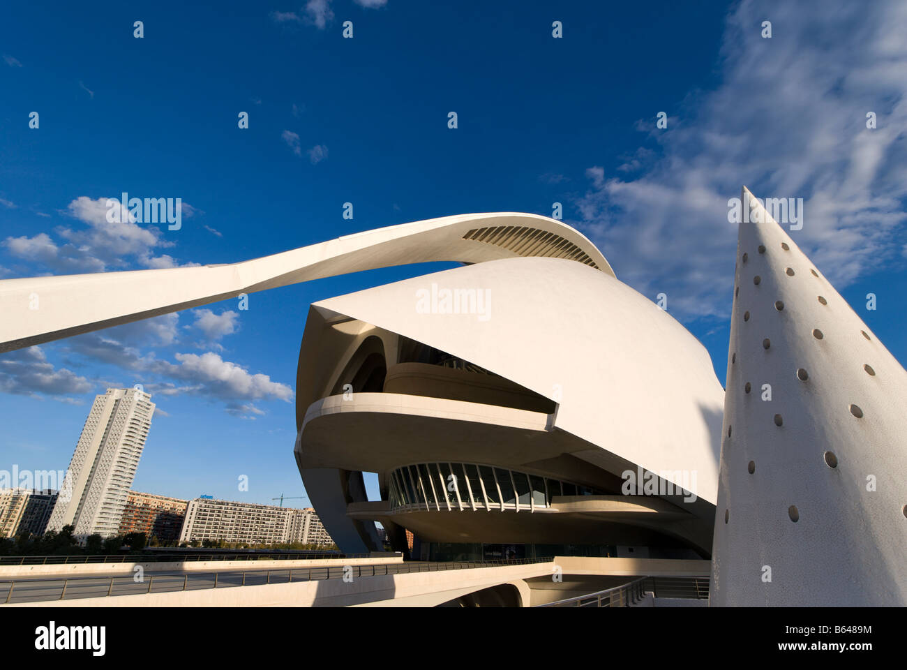 Entrance to the Valencia Opera House El Palau de les Arts Reina Sofía Valencia Spain Stock Photo