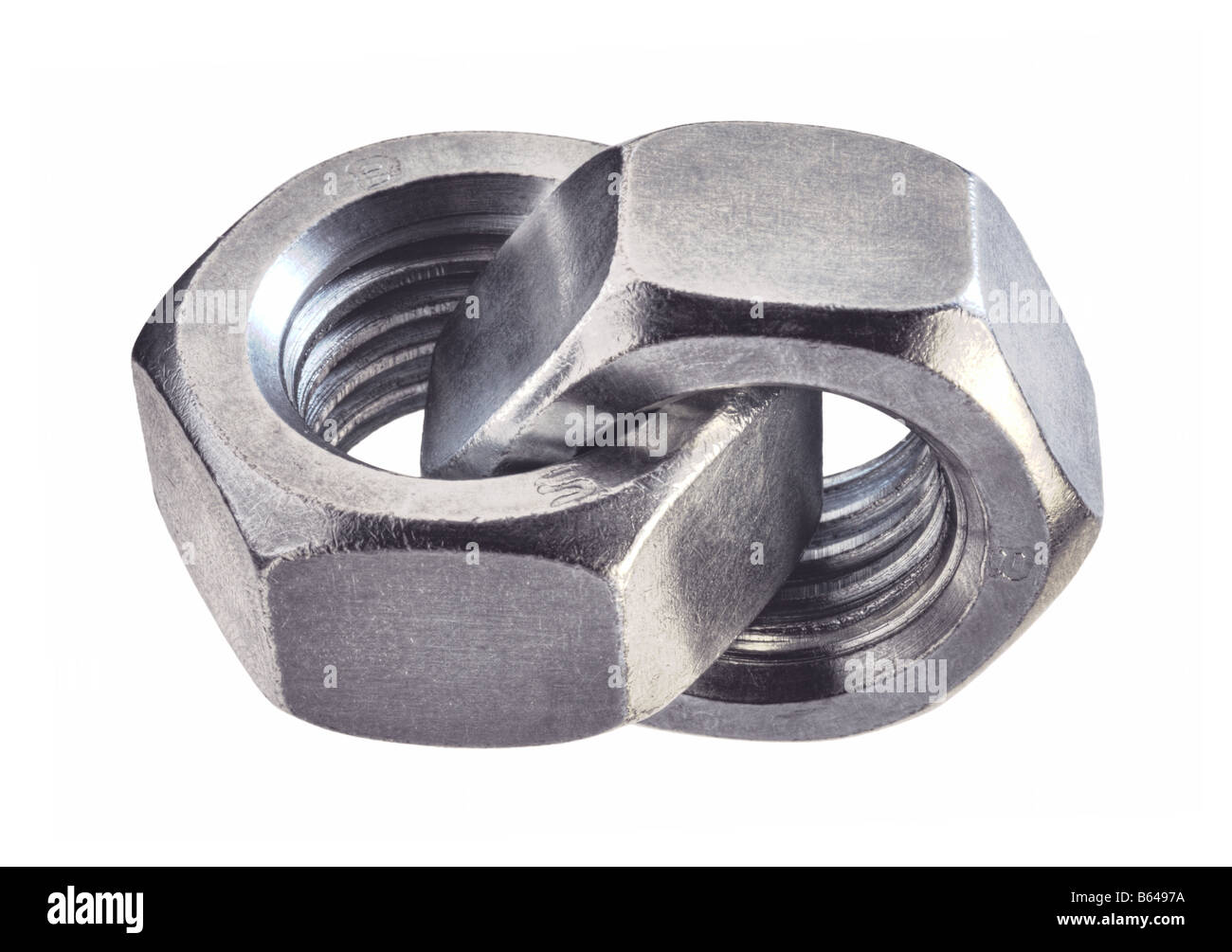 Bolts joined together Stock Photo