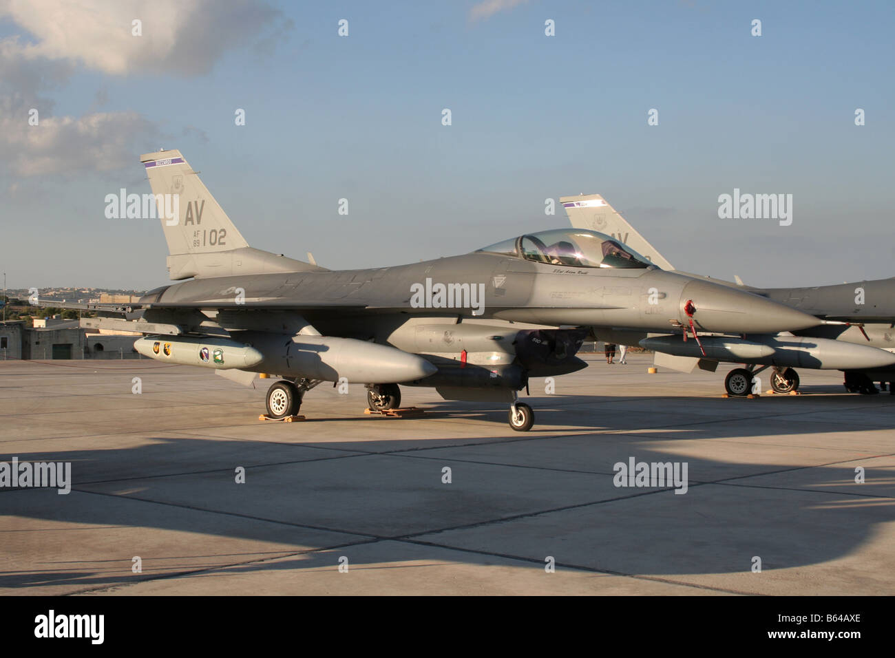 F-16C jet fighter of the US Air Force - Stock Image