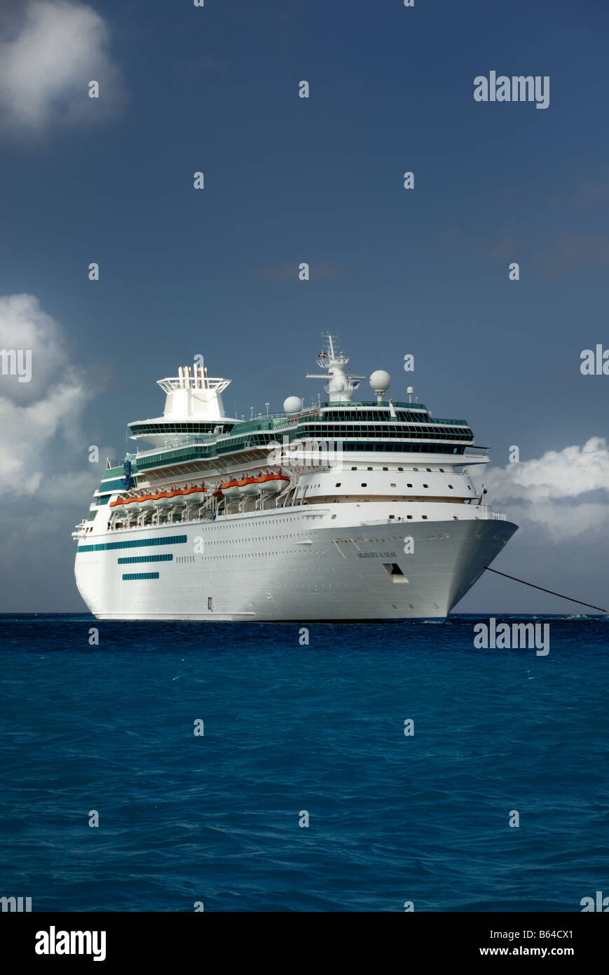 Majesty of the Seas is a Sovereign Class cruise ship owned and operated by Royal Caribbean International. - Stock Image