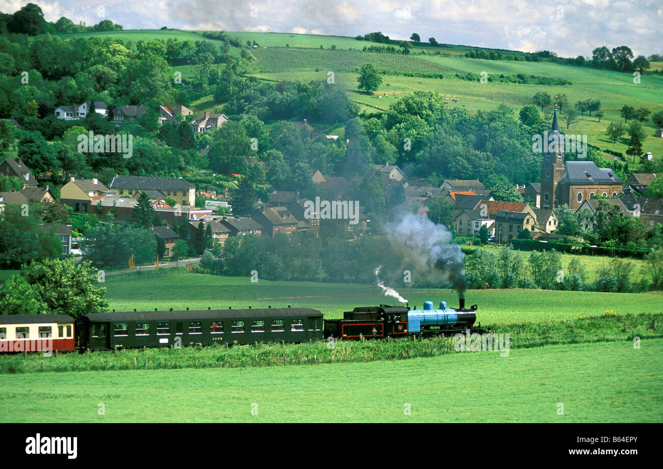 Holland, The Netherlands, Eys. Steamtrain. - Stock Image