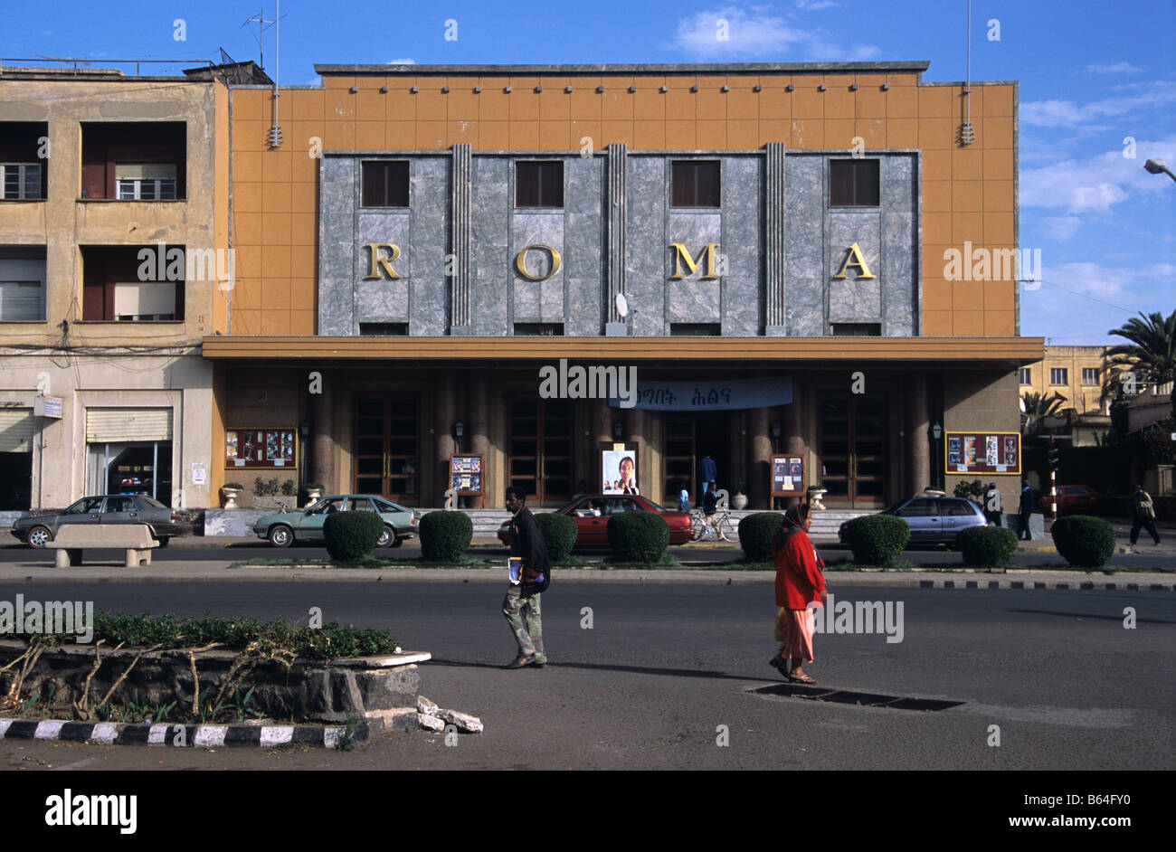 The 'Roma' Art Deco Cinema (1937), Asmara, Eritrea - Stock Image