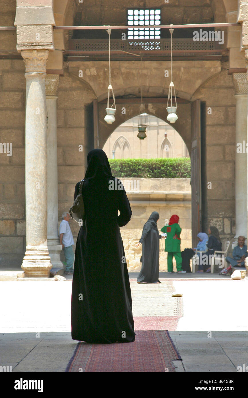 Arabic girl in Al-Nasir Muhammad Ibn Qaloon mosque - Stock Image