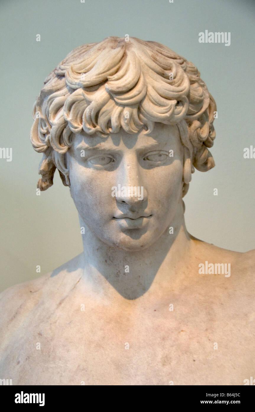 Gay Antinous or Antinoos Emperor Hadrian Hadrian's rome roman - Stock Image