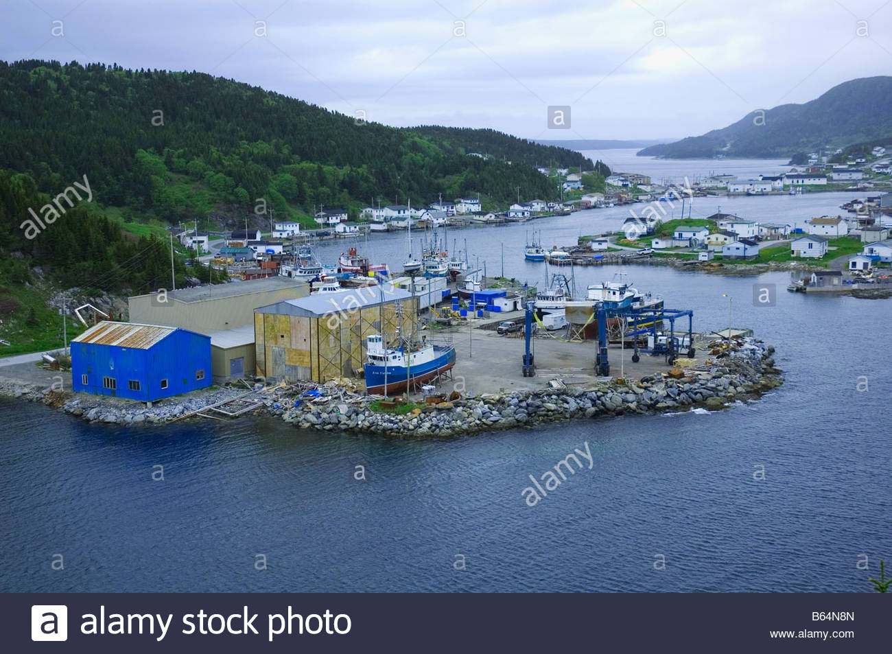 Englee and Grevigneaux Harbours Newfoundland - Stock Image