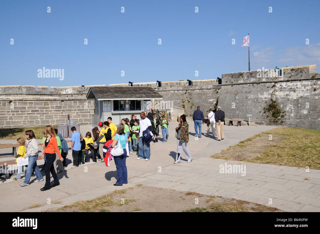 Castillo de San Marcos in St Augustine Florida America USA Stock ...