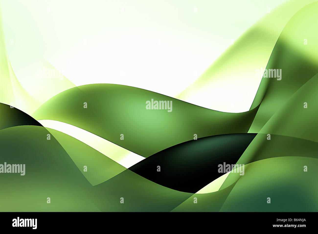 Abstract background with green and white lines - Stock Image