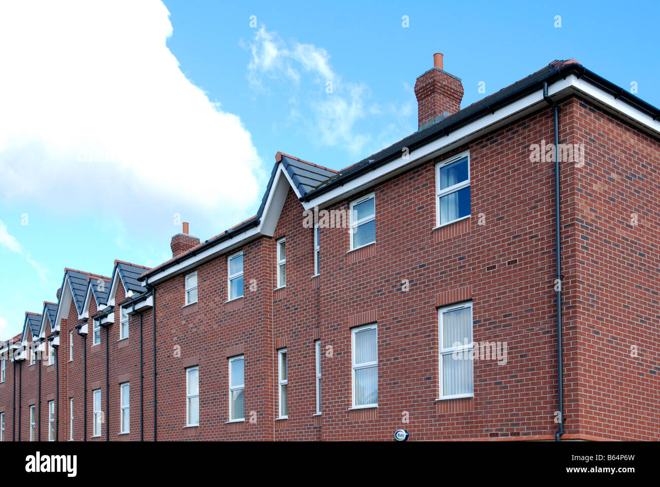 new affordable housing project in leeds,yorkshire,uk - Stock Image