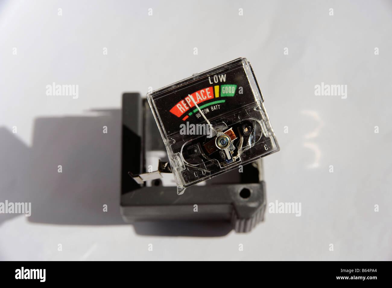 Battery tester broken - Stock Image