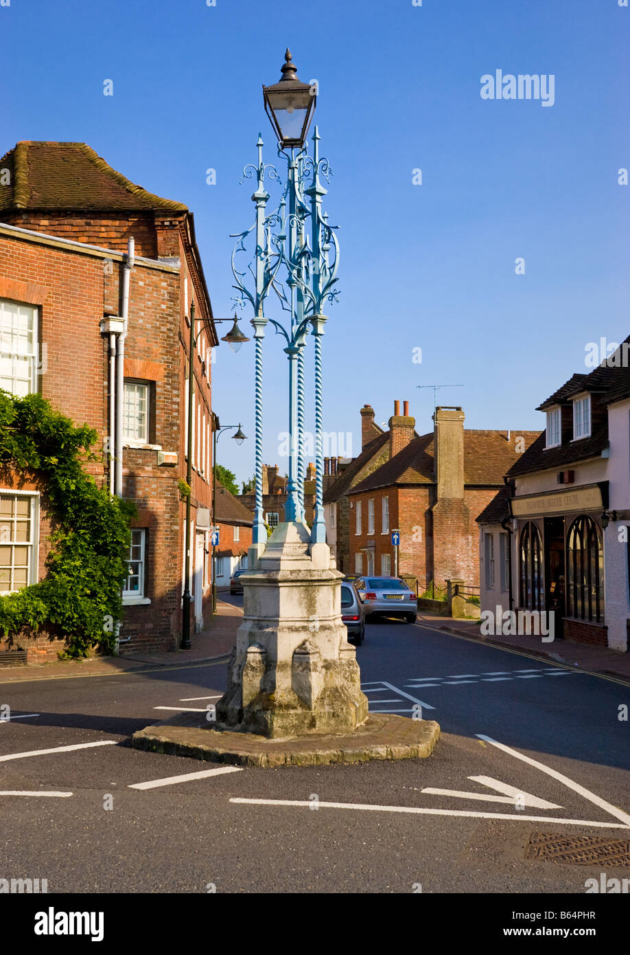 Lord Leconfield Gas light monument Petworth West Sussex England UK - Stock Image
