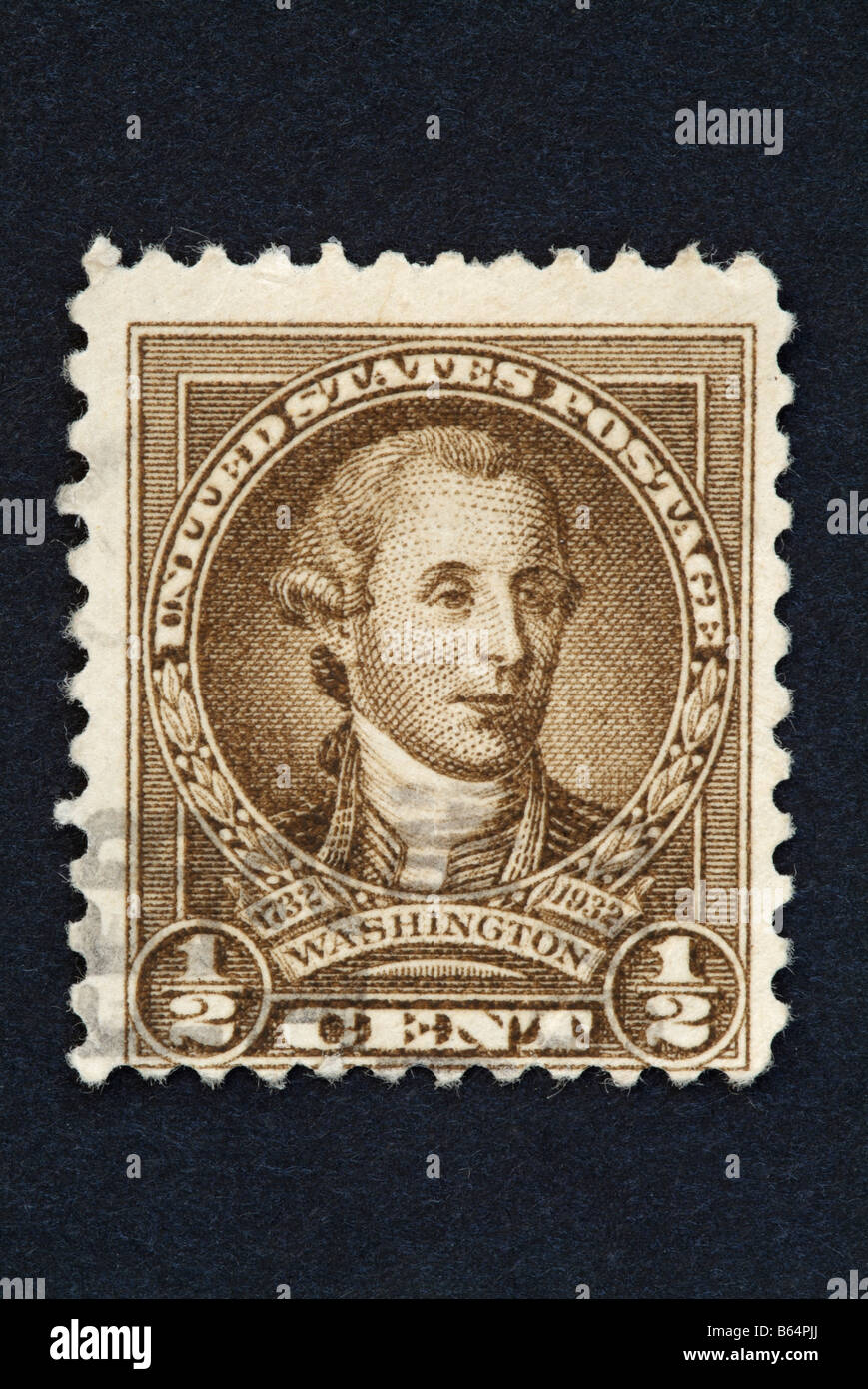 A Half Cent US Postage Stamp With The Image Of George Washington