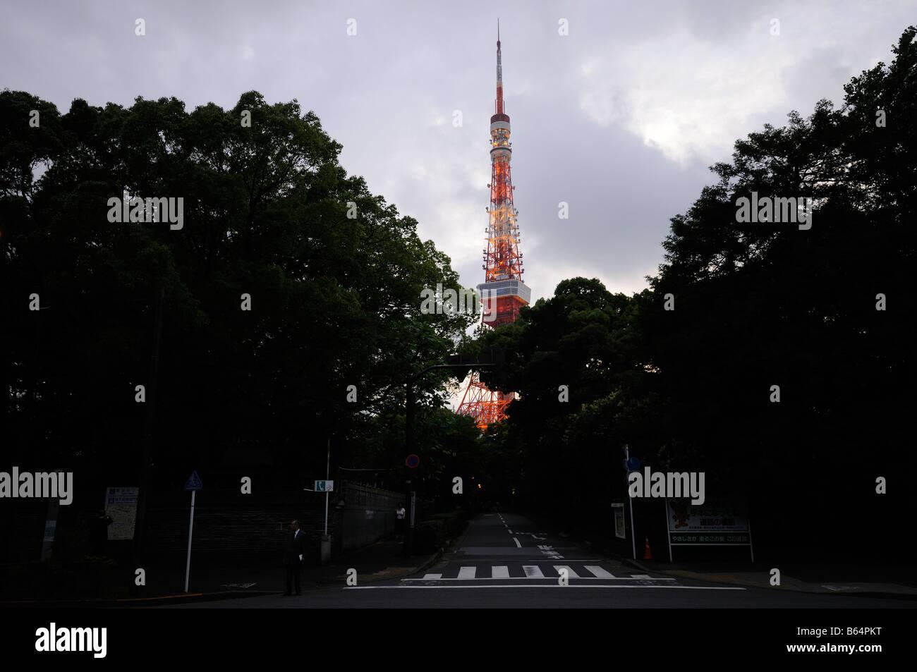 Tokyo tower. Shiba area. Minato-ku district. Tokyo. Japan Stock Photo