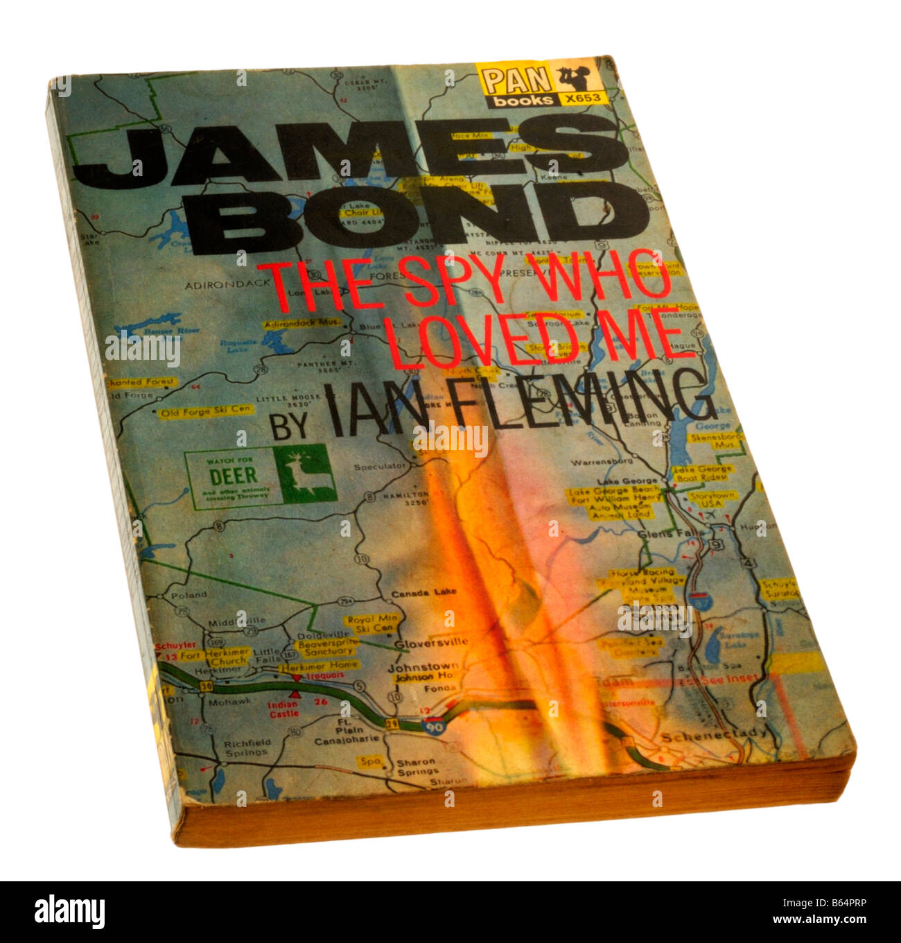 James Bond The Spy Who Loved Me paperback by Ian Fleming - Stock Image